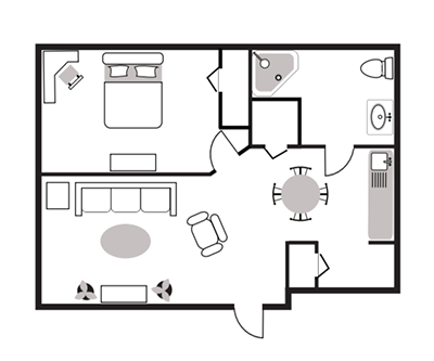 1 Bedroom Apartment Burtons Ridge